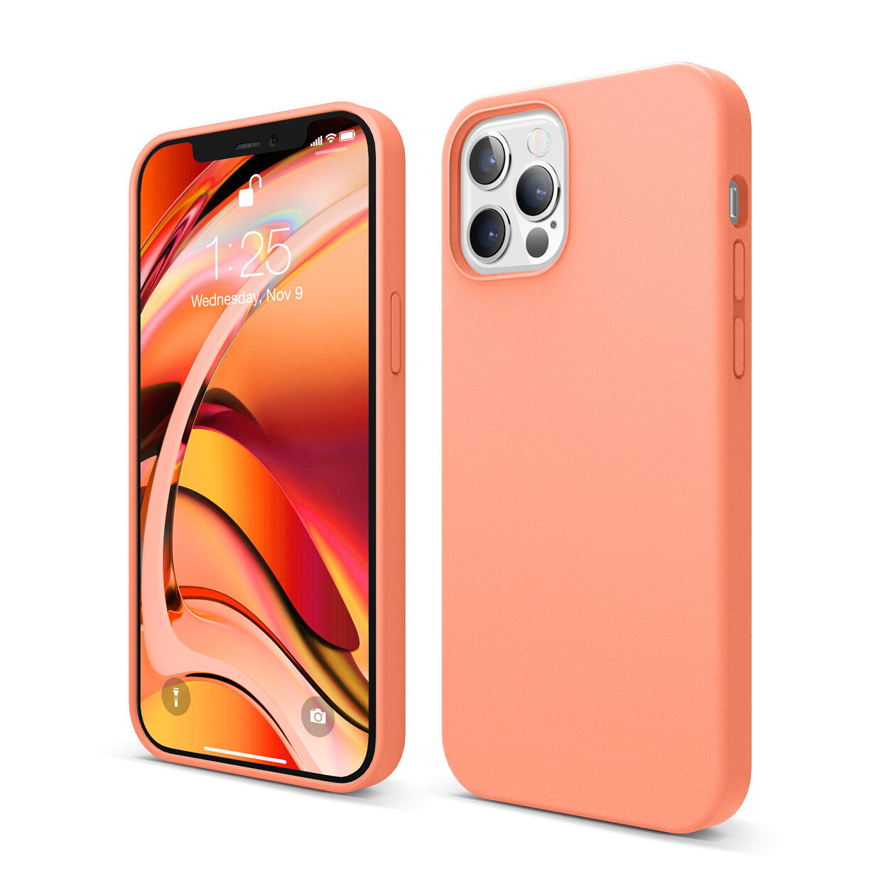 Mons Liquid Silicone Case For IPhone (2020) - Nectarine Orange