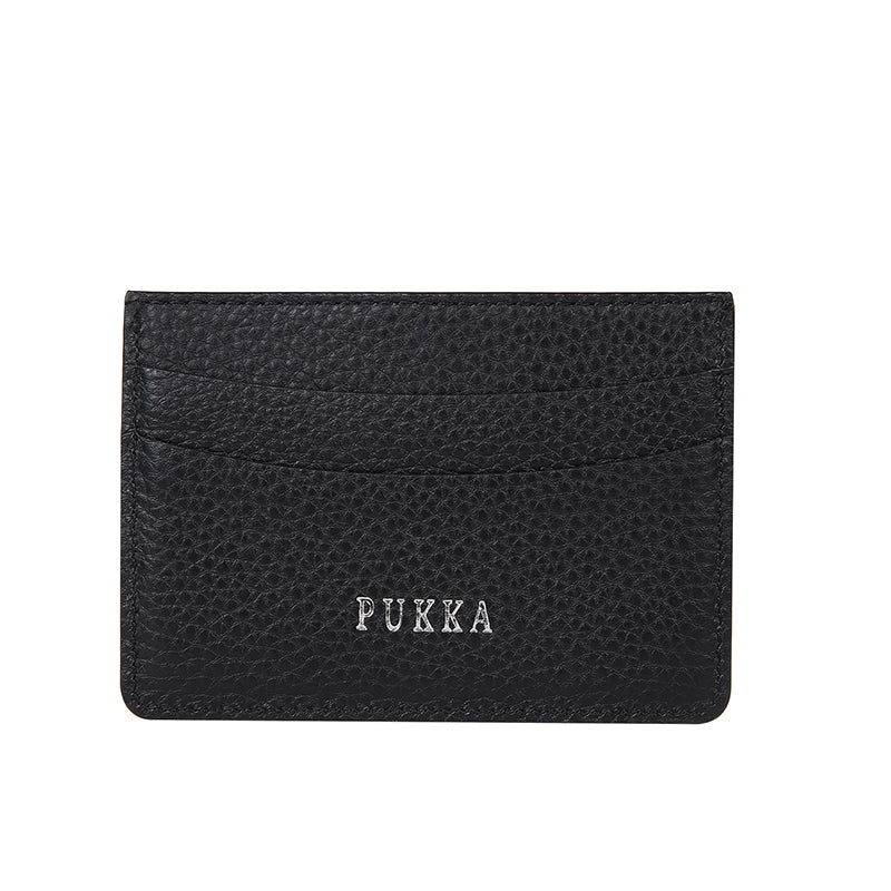 PUKKA Slim Wallet Genuine Leather (BLACK)