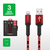 AT Supreme Link Braided 3.0 A Lightning Cables MFI 2.2M