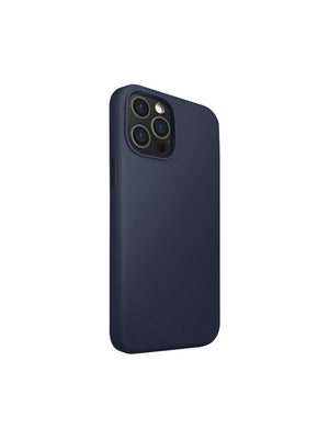 Uniq Hybrid Lino Hue Antimicrobial For IPhone (2020) - Marin Blue