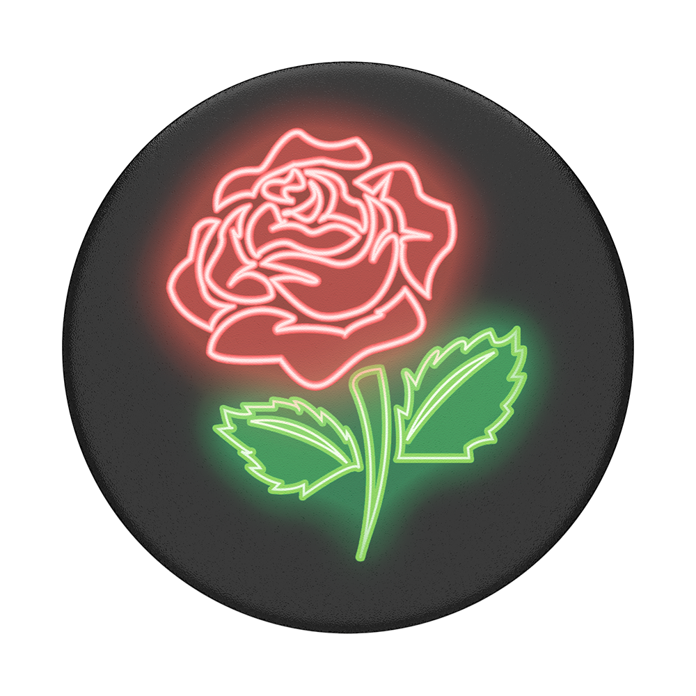 PopSockets Stand and Grip - Neon Rose