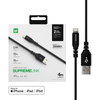 AT Supreme Link Powermax 2.4 A Lightning Cables MFI 4m (Black)