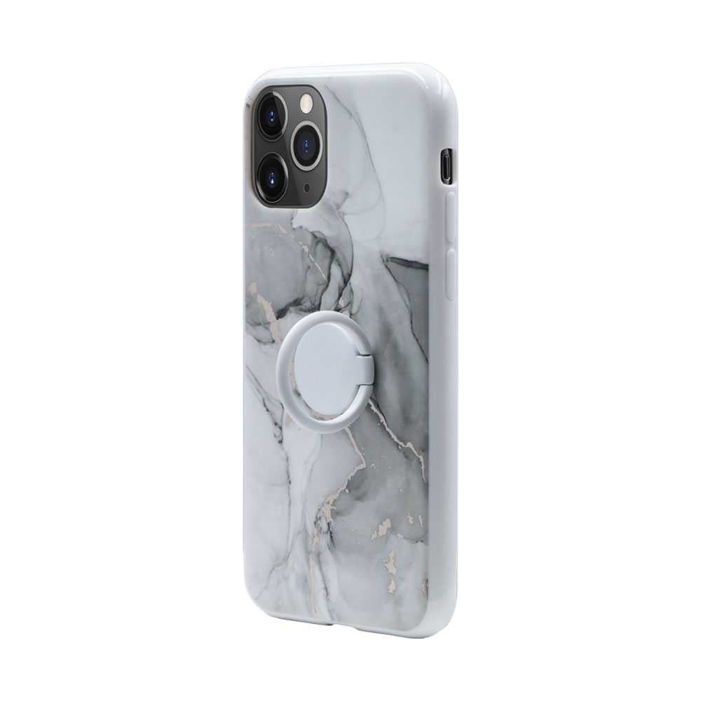HABITU Marble Case with Ring for iPhone 11 Pro - ARABESCATO