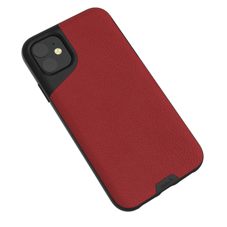 MOUS Contour Series for iPhone   (Red Leather)