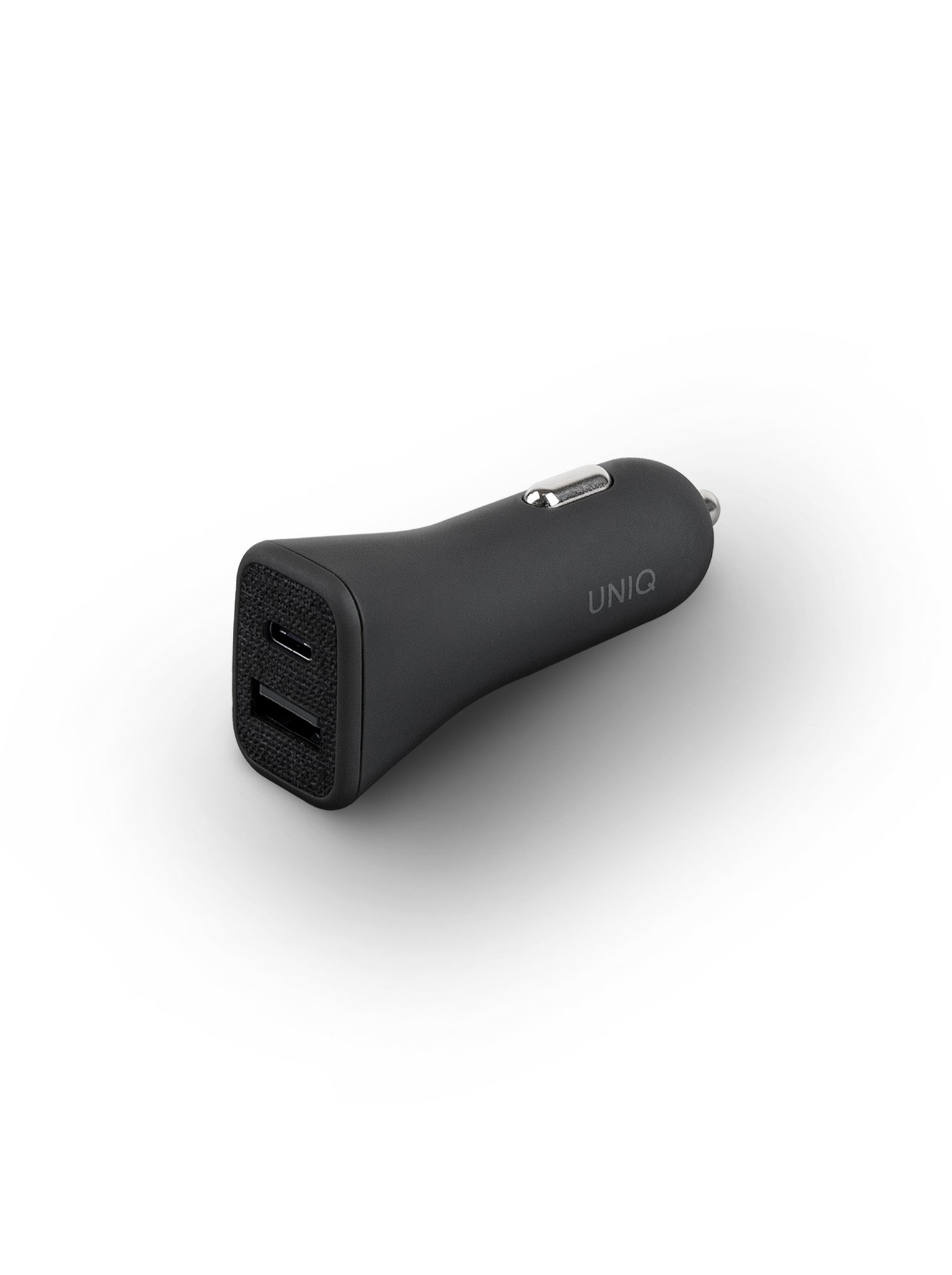 Uniq Votra Duo 30w Car Charger with USB-C PD - Charcoal (Black)
