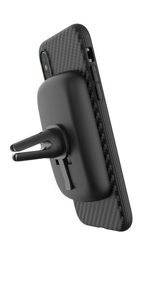 Evutec AERGO - Karbon Black with AFIX Car Mount for iPhone XR