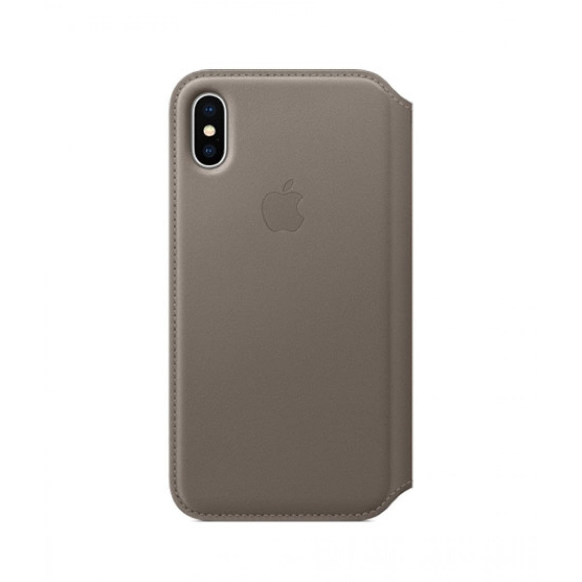 Apple iPhone X / XS Leather Folio - Taupe