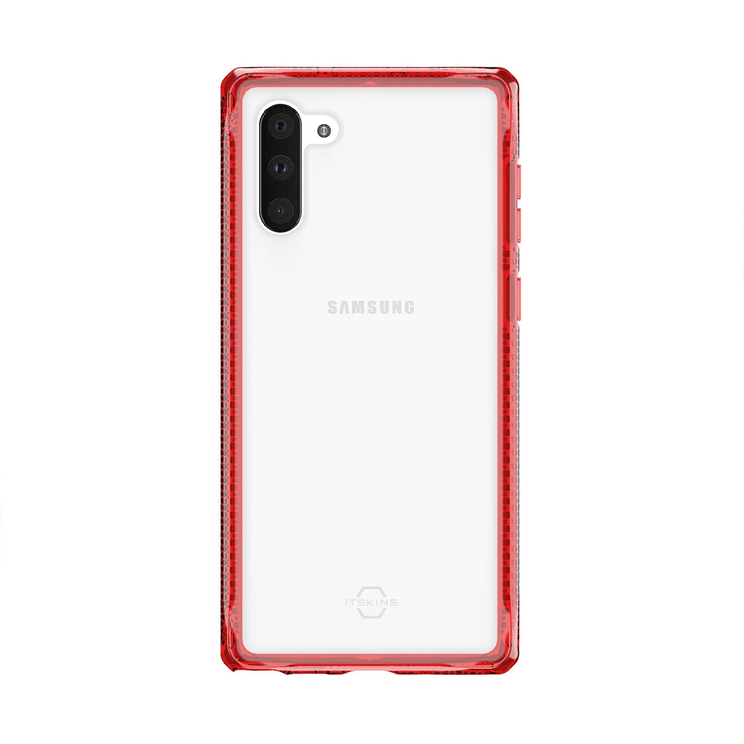 ITSKINS HYBRID CLEAR FOR SAMSUNG NOTE 10&NOTE 10+ RED & TRANSPARENT
