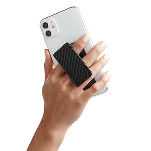 Handl Carbon Fiber Phone Grip - Black Carbon Fiber