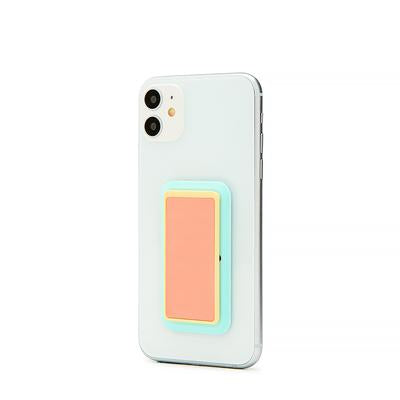 Handl Glow in the Dark Phone Grip - Coral/Mint
