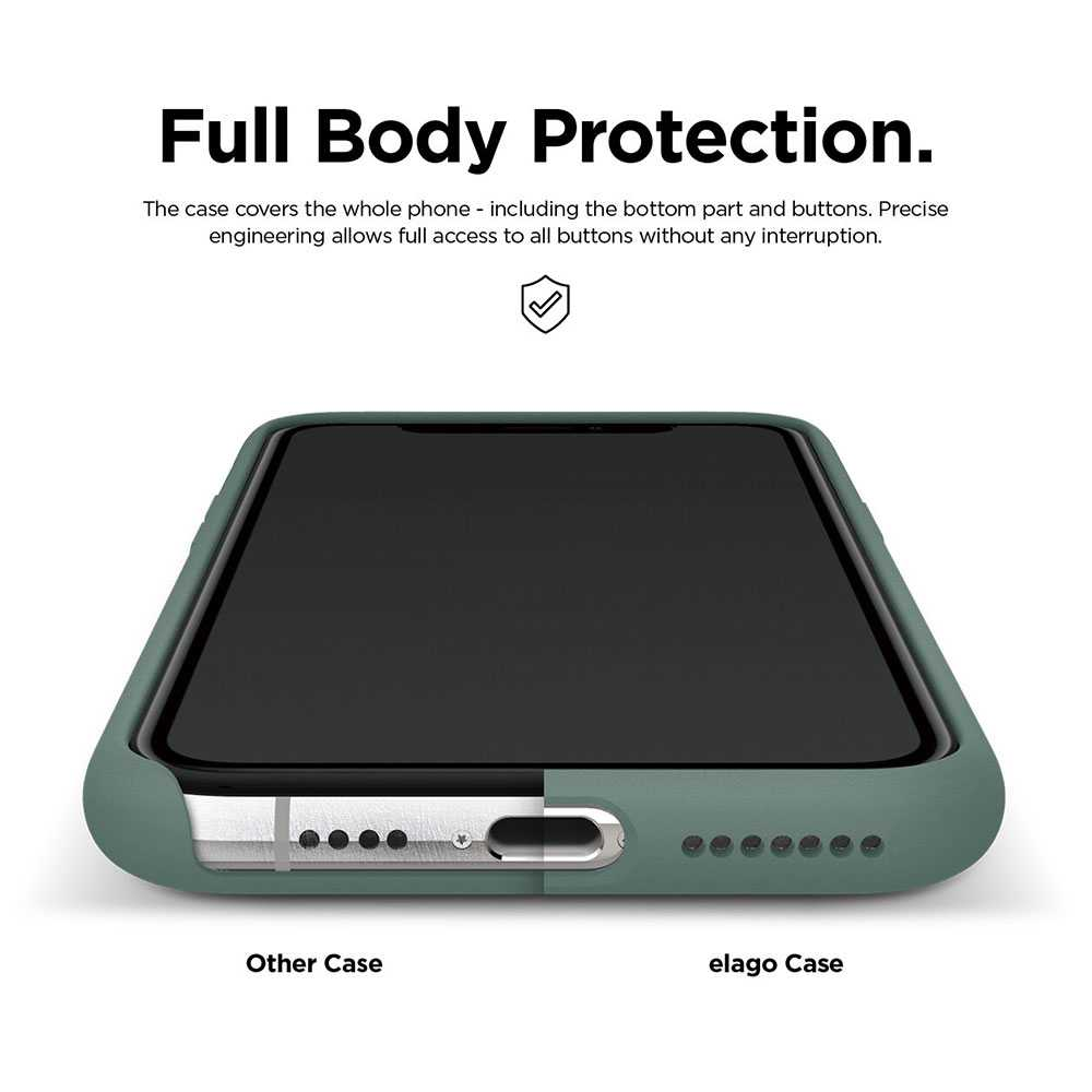 Elago Silicone Case for iPhone 11 Pro / 11 Pro Max - Midnight Green