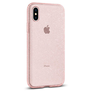 Spigen New IPhone Case Liquid Crystal Glitter Rose Quartz (XsMax)