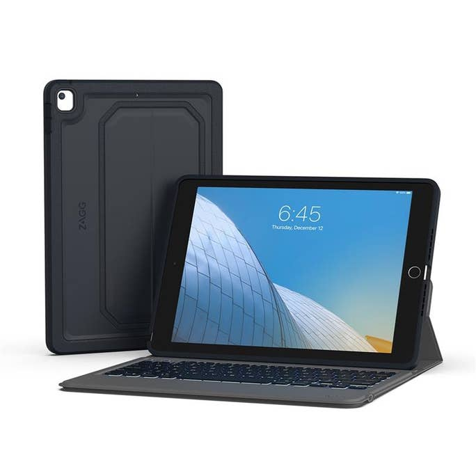 Zagg Rugged Messenger Wireless Keyboard & Durable, Detachable Case For Ipad 10.2""