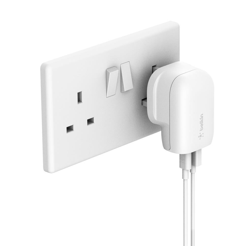BELKIN UK Home Charger 2 Ports 30W (18W USB-C + 12W USB-A) White