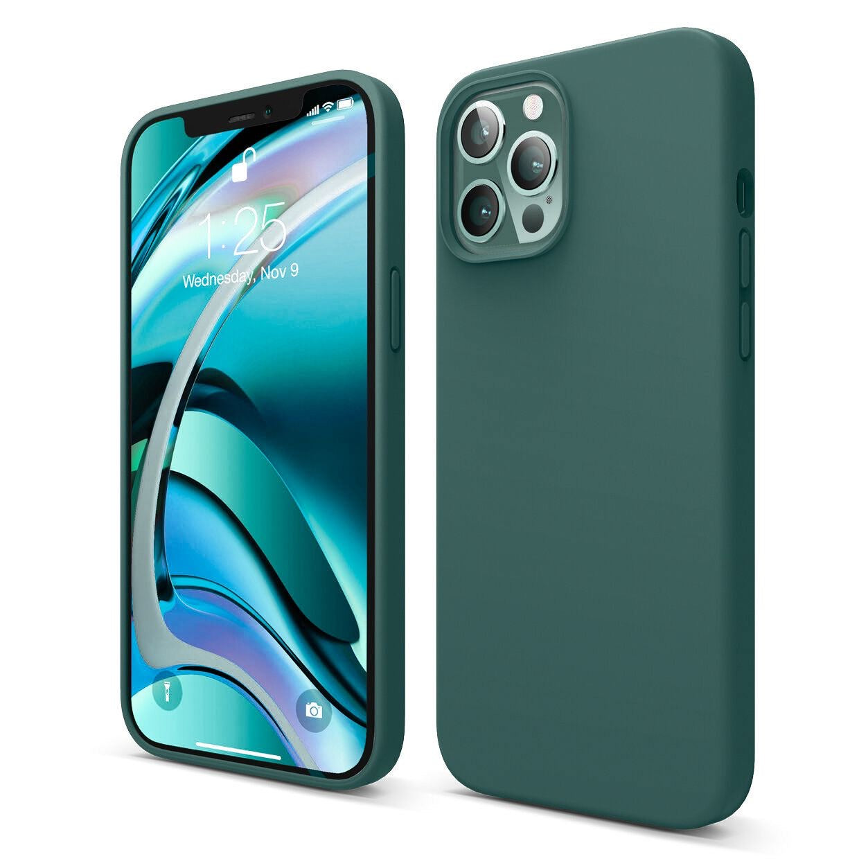 Mons Liquid Silicone Case For IPhone (2020) - Midnight Green