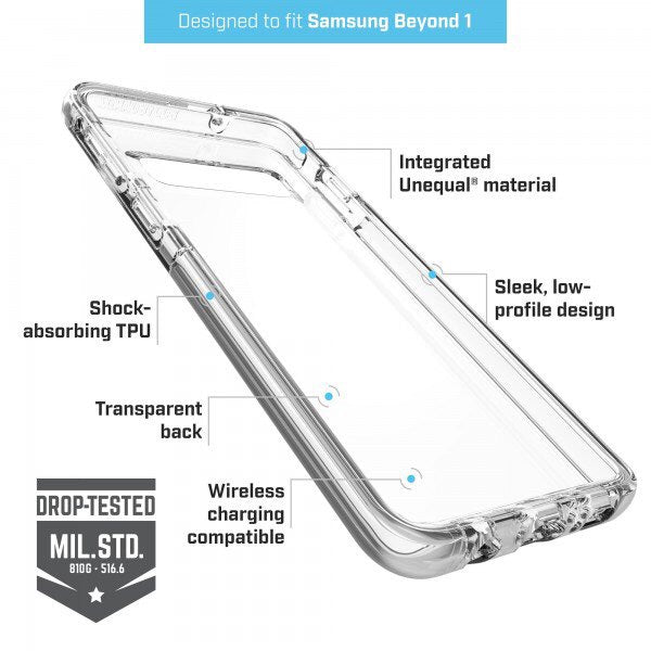 BodyGuardz Ace Pro Case For Samsung Galaxy S10&S10+ Clear/Clear