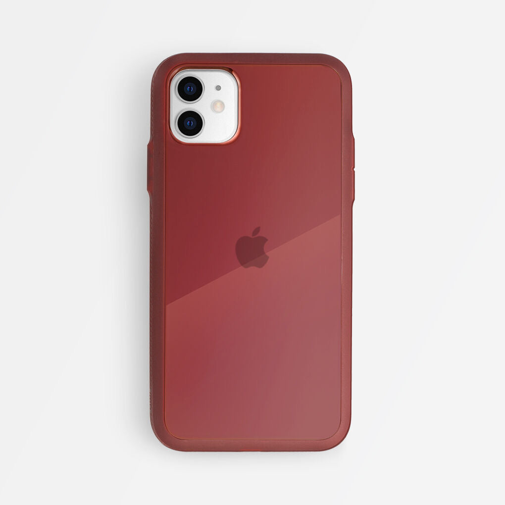 Bodyguardz Paradigm S Mirrored Back Case Secure for Iphone (2019), Maroon