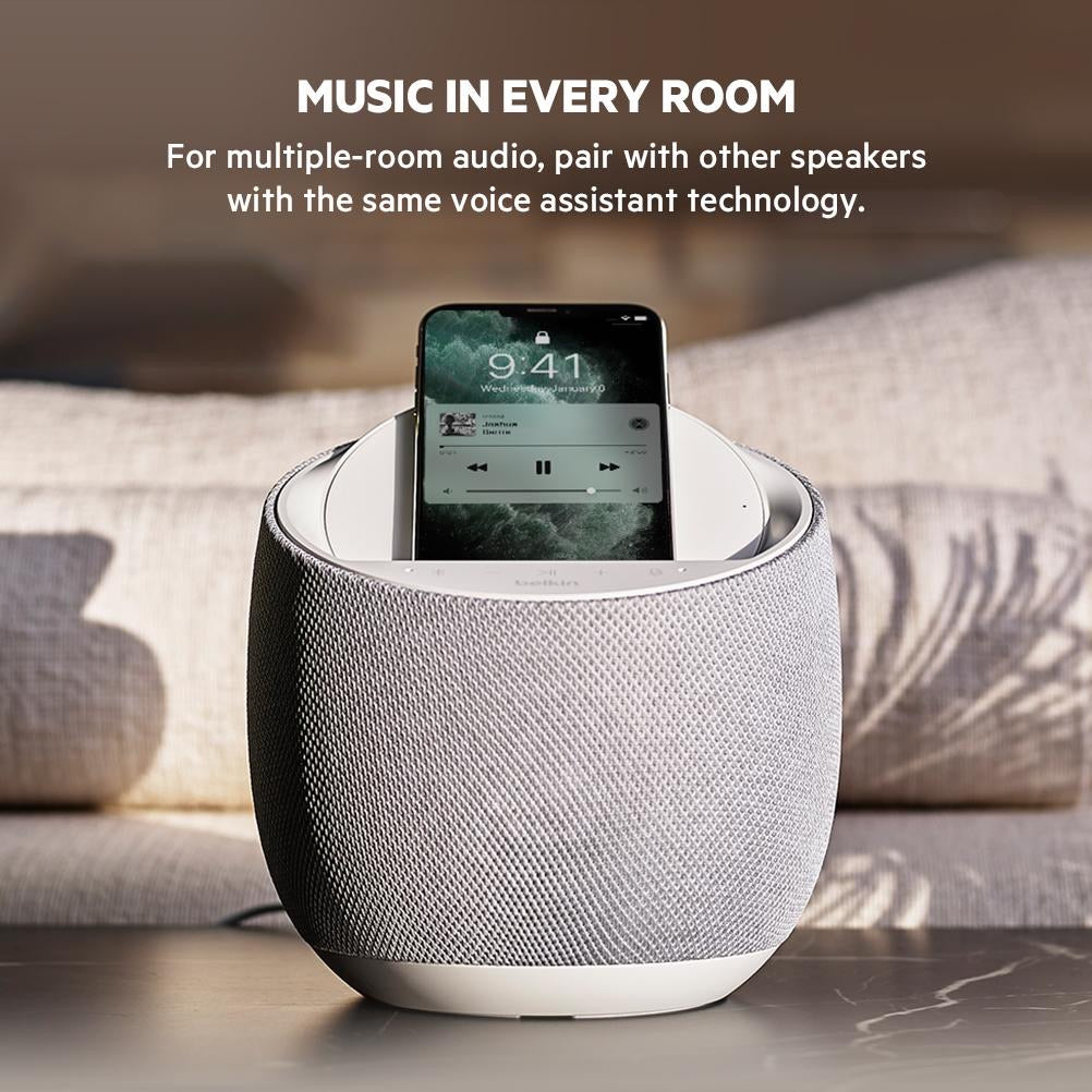 BELKIN SoundForm Elite Hi-Fi Smart Speaker + 10W Wireless Charger