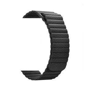 NintyOne Leather Watch Band For Apple Watch - Black