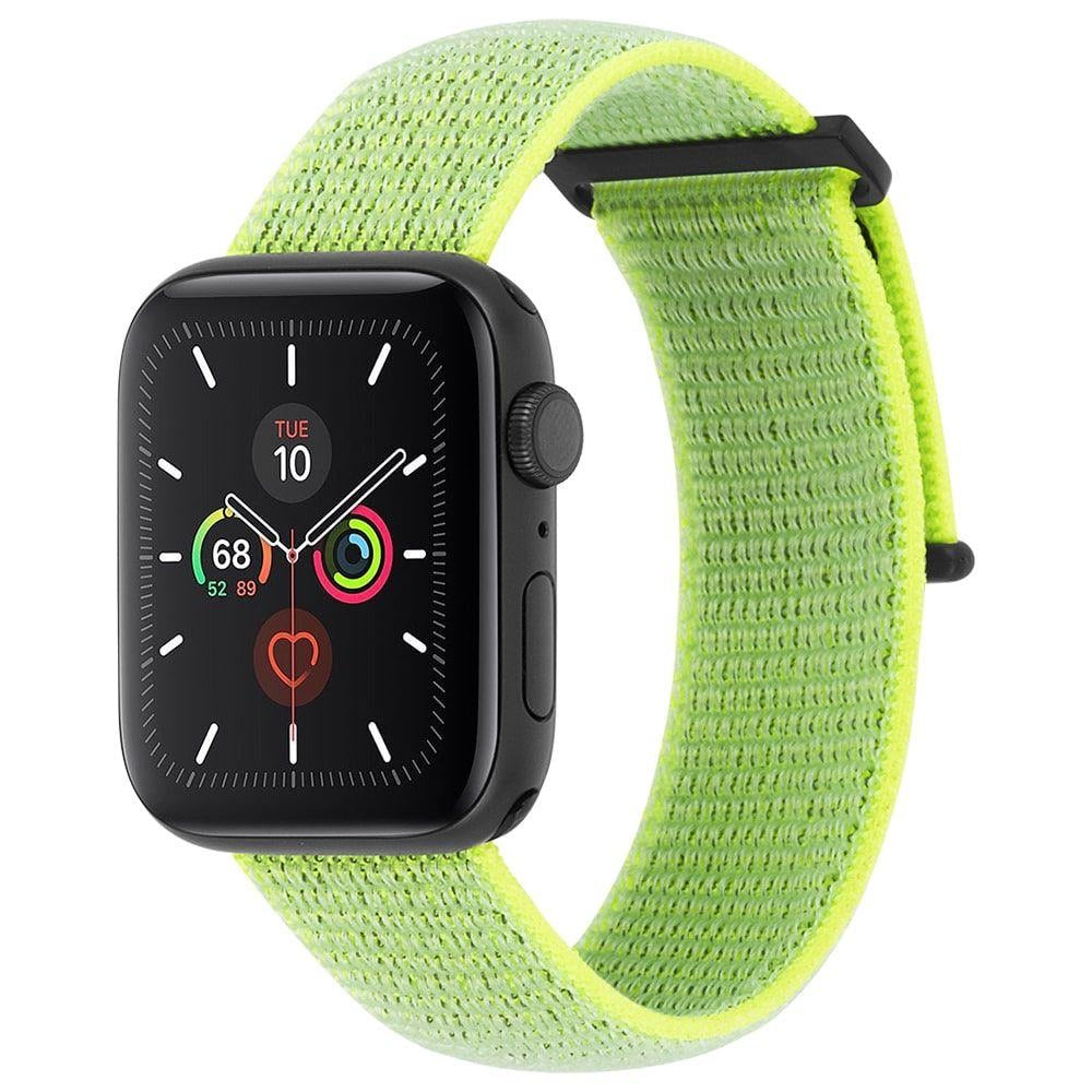 CASE-MATE 42-44mm Apple Watch Nylon Band - Reflective Neon Green