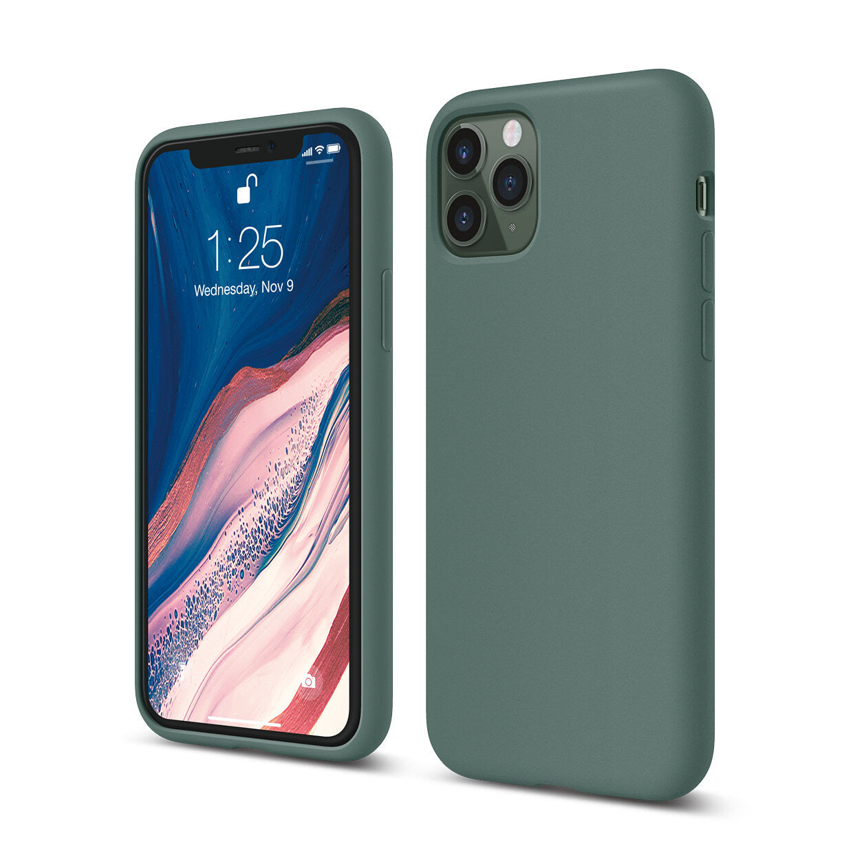 Mons Liquid Silicone Case For IPhone (2019) - Midnight Green
