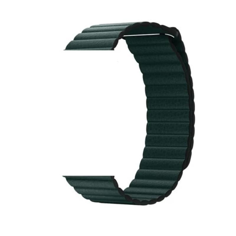 NintyOne Leather Watch Band For Apple Watch - Dark Green