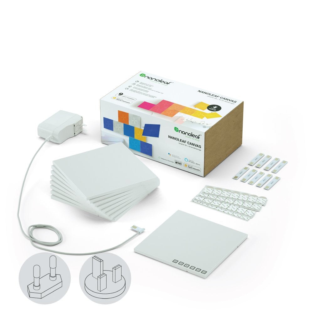 NANOLEAF CANVAS - SQUARE - WHITE - 9 PACK - EU/UK