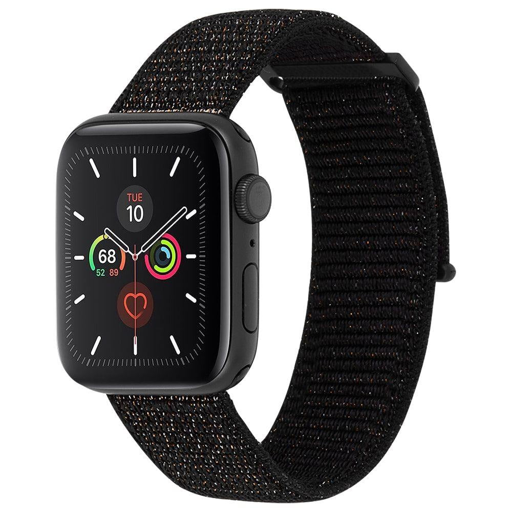 CASE-MATE 42-44mm Apple Watch Nylon Band - Mixed Metallic Black