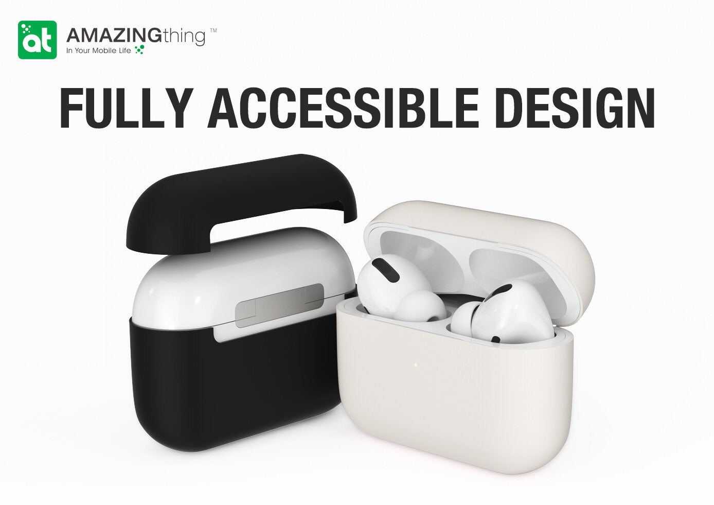 AT Ultra Skinny Premium Case for AirPods Pro (Black)