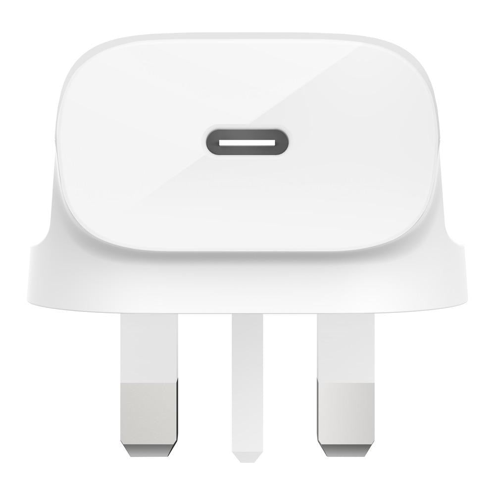 BELKIN UK Home Charger 1 Port 18W USB-C White (With USB-C to Lightning Cable)
