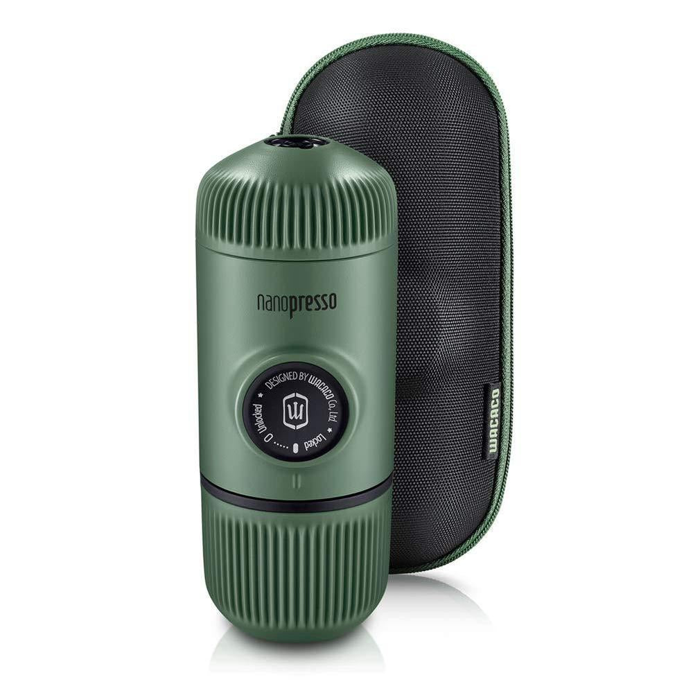 WACACO Elements Nanopresso Portable Espresso Maker with Protective Case - Moss Green