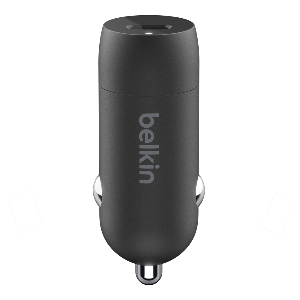 BELKIN Car Charger USBC 18W Black (With USB-C to Lightning Cable)