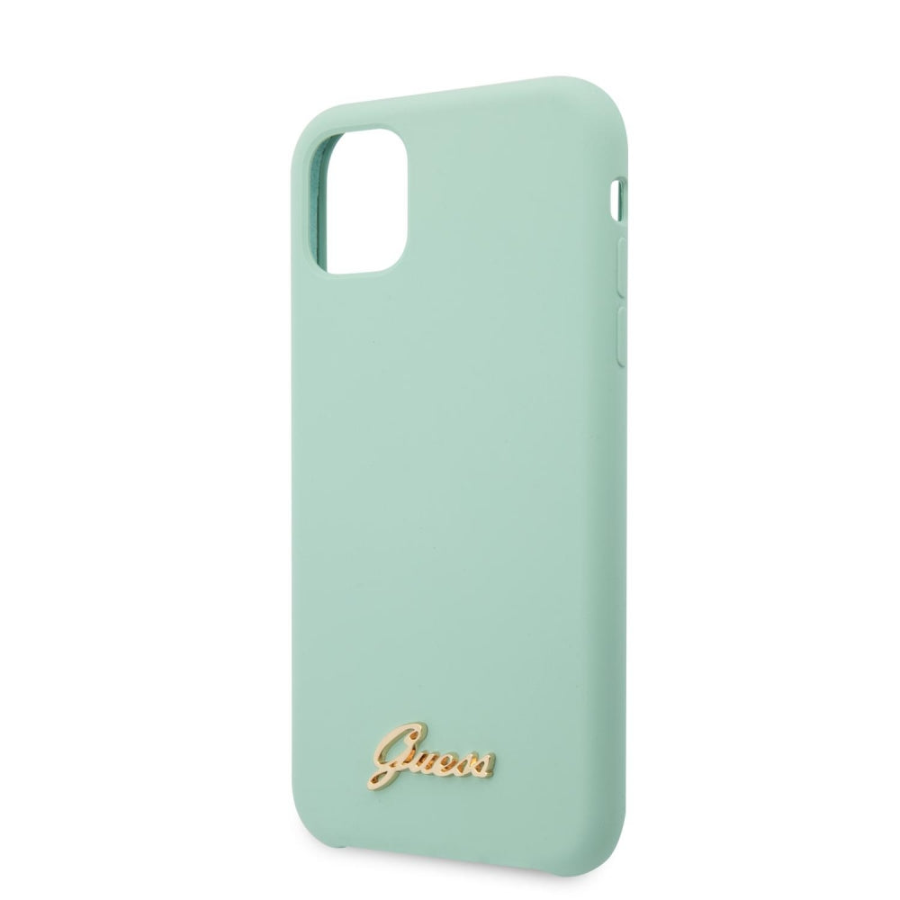 Guess Vintage Logo Silicone Case for iPhone (2019) - Mint