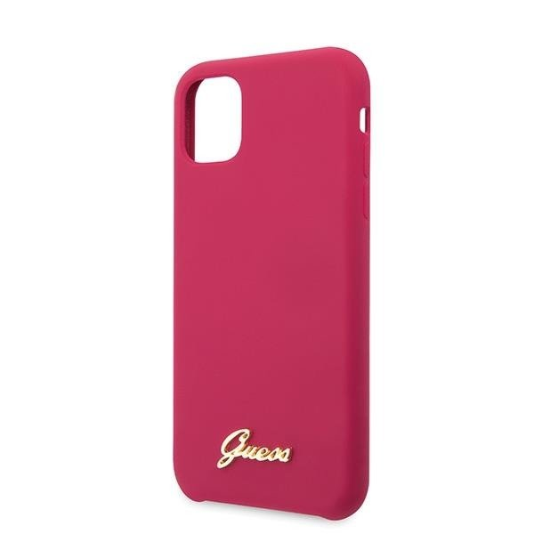 Guess Vintage Logo Silicone Case for iPhone (2019) - Burgundy (11Pro Max)