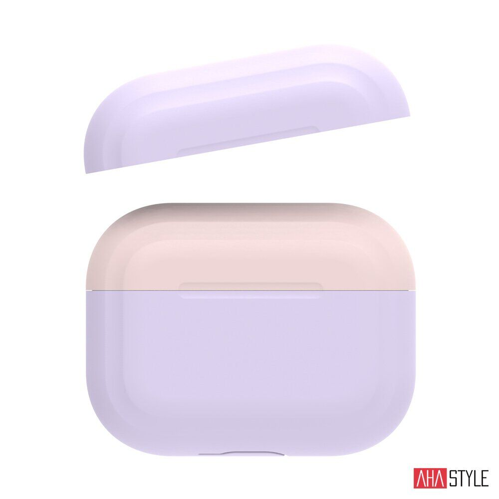 AhaStyle Premium Silicone Two Toned Case for Airpods Pro - Lavander/Pink
