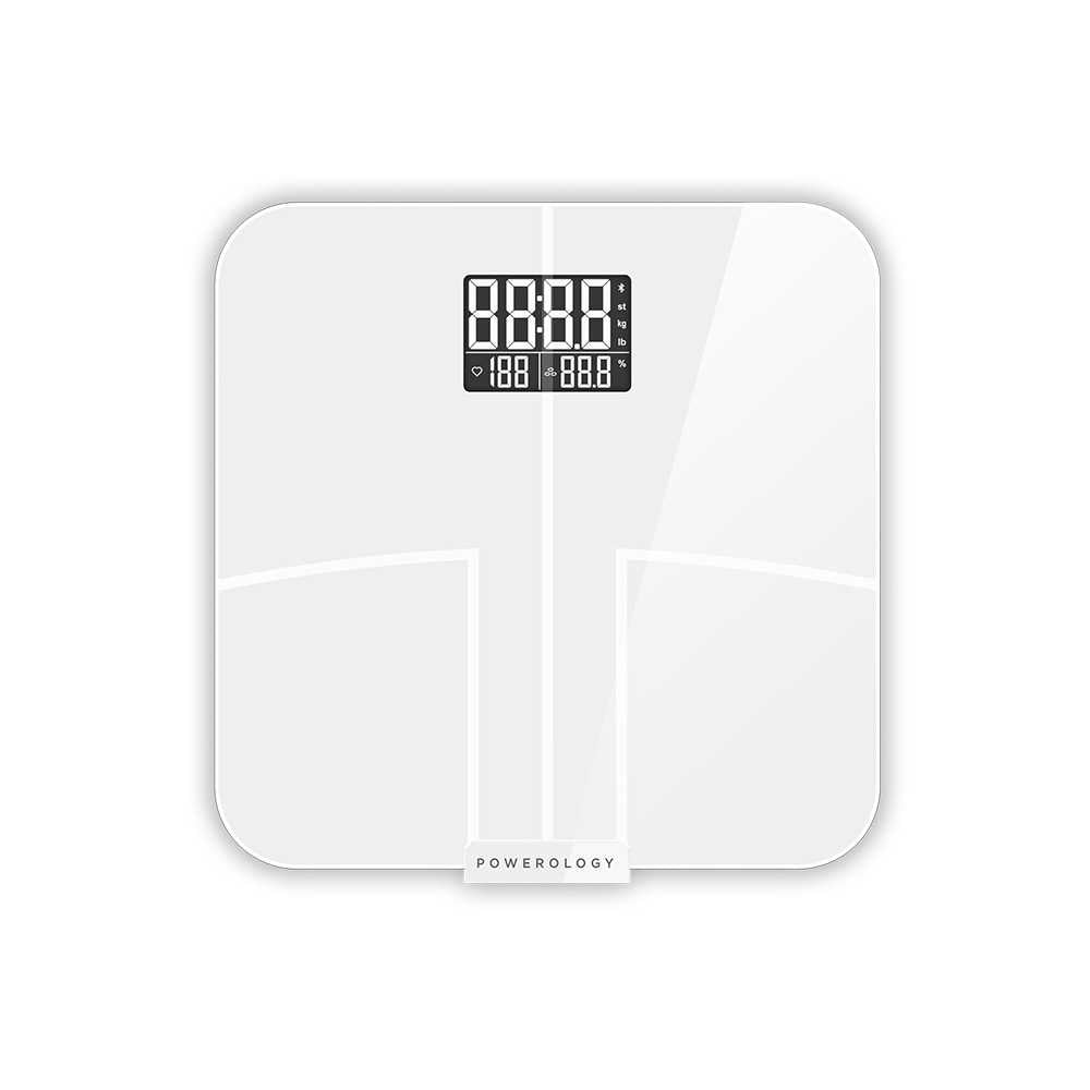 Powerology Smart Body Scale Pro with Advanced Features - White