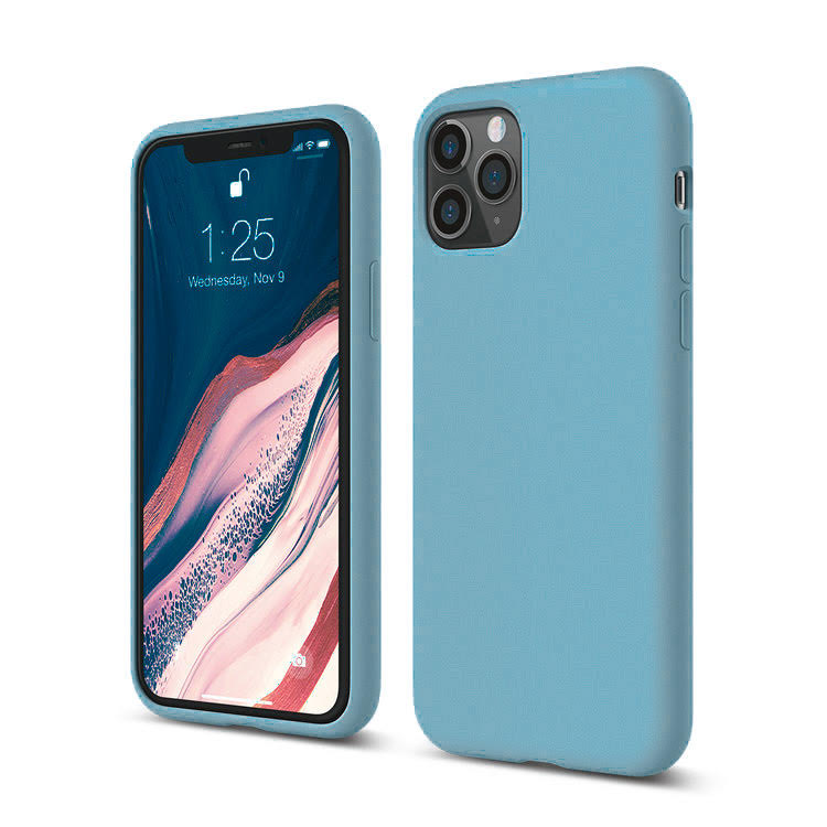 Mons Liquid Silicone Case For IPhone (2019) - Sky Blue