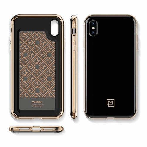 Spigen iPhone Case La Manon Etui - Gold Black