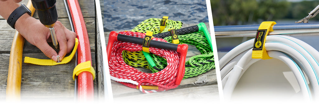 wrap-it storage hook and loop quick straps for cord wraps and rope organizers