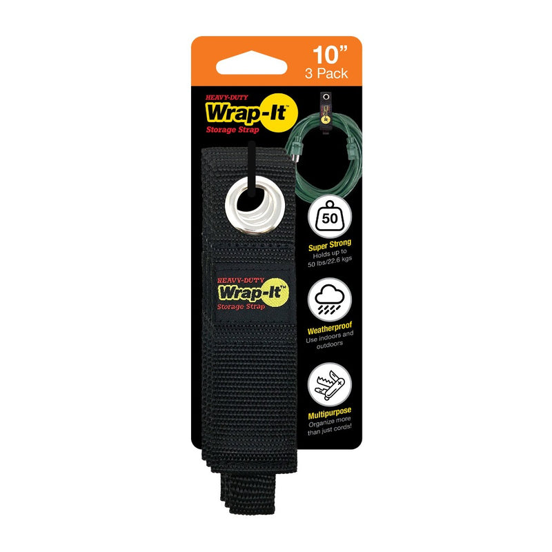 Heavy-Duty Storage Strap - 10-in. (3-Pack)