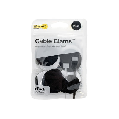 "Cable Clams 1.75"" Round (9 Pack) - Wrap-It Storage"