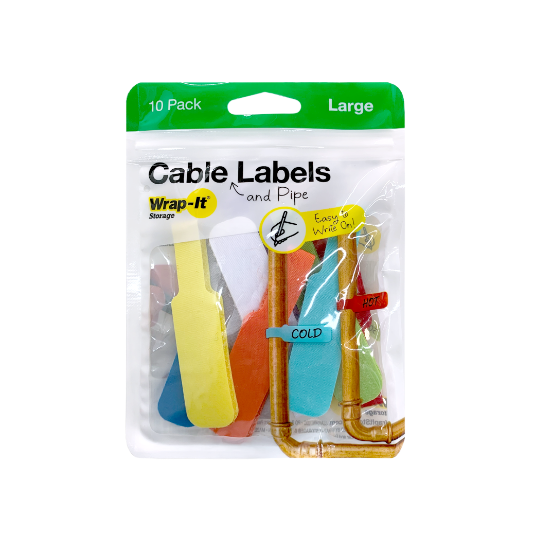 Cable Labels, Large (10-Pack)