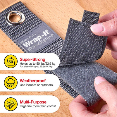 Wrap-It Heavy-Duty Storage Straps - Assorted 10 Pack