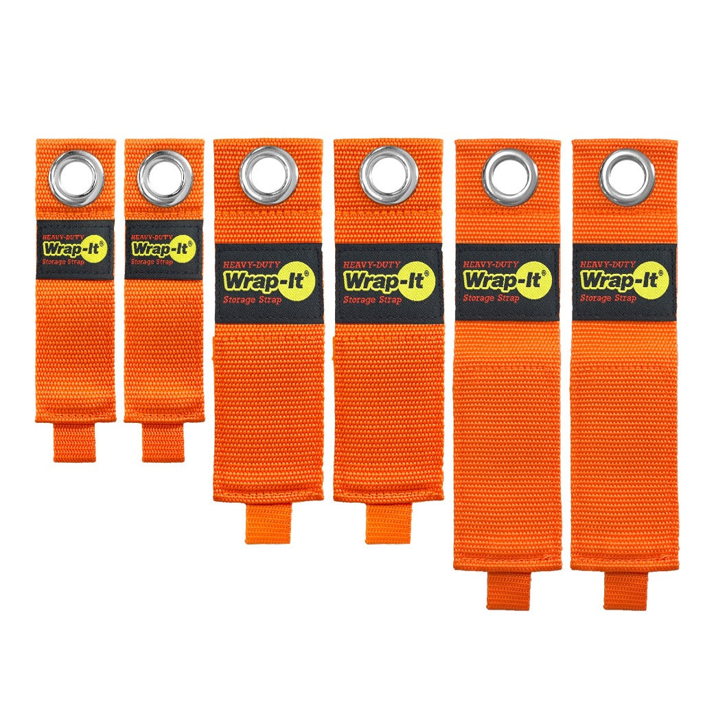 Heavy-Duty Storage Straps - Blaze Orange