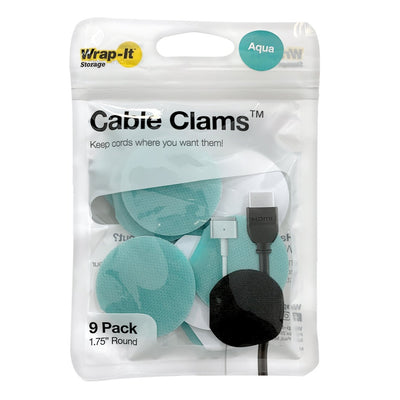 "Cable Clams 1.75"" Round (9 Pack)"