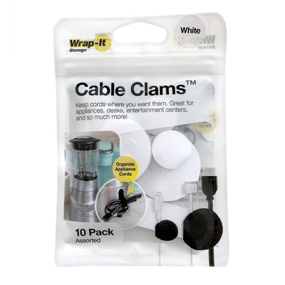 Cable Clams Assorted 10 Pack