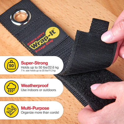 "Heavy-Duty Storage Straps - Assorted 4 Pack (7"", 10"", 13"", 17"")"