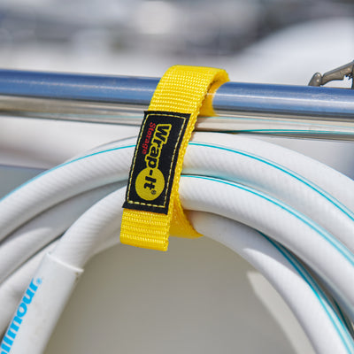 12-in. Quick-Strap Cord and Rope Organizer, Yellow (3-Pack)