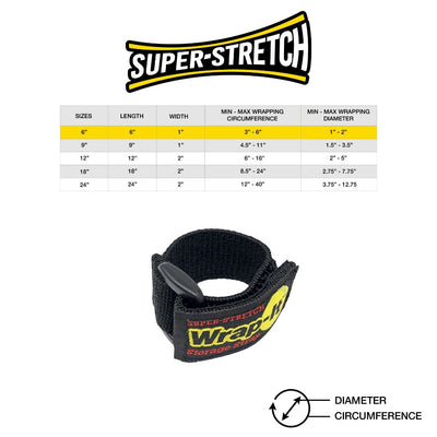 6 in. Super-Stretch Storage Strap (6-Pack)