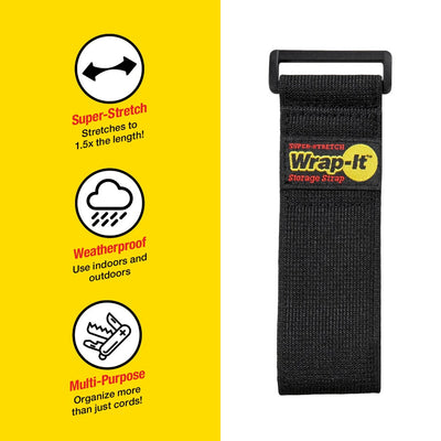 12 in. Super-Stretch Storage Strap (4-Pack)